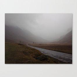 Highland Road in Scotland Canvas Print