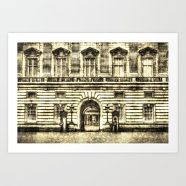 Buckingham Palace London Vintage Art Print
