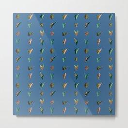 Origami A (blue) Metal Print