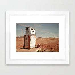 Desert Gas Framed Art Print