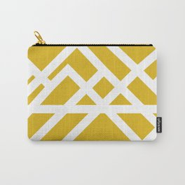 Brutalist Blueprint (Yellow) Carry-All Pouch