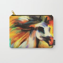 Watercolor Horse Rainbow Sunset (Color) Carry-All Pouch