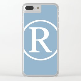 Registered Trademark Sign on placid blue background Clear iPhone Case