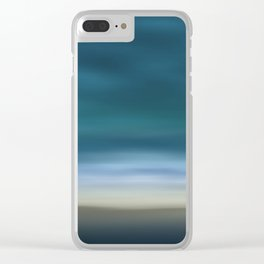 Dreamscape #7 blue-green Clear iPhone Case