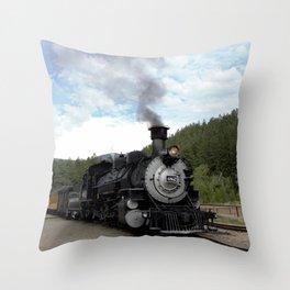 Engine No. 482 at the Rockwood Depot Throw Pillow
