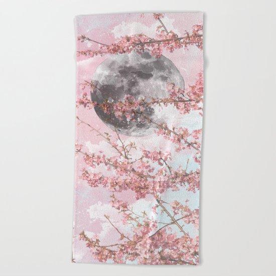 Spring Moon Beach Towel