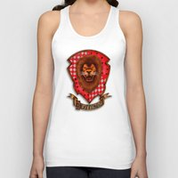gryffindor Tank Tops featuring Gryffindor shield emblem by JanaProject
