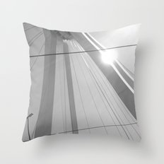 Bridge in Ludwigshafen, Germany. Throw Pillow