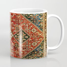 Qashqa'i  Antique Fars Persian Tribal Rug Coffee Mug