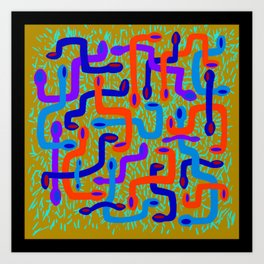 serpent pattern Art Print