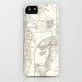 Old 1865 Historic State of Palestine Map iPhone Case