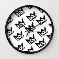 bow Wall Clocks featuring Bow by Matt Smiroldo