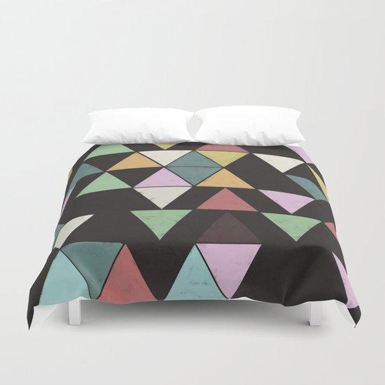 Dark Triangles Duvet Cover