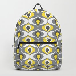 Retro ogee ovals Illuminating Yellow, Ultimate Gray Backpack