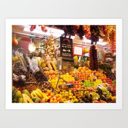 Fresh Fruits Art Print