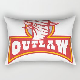 Bandit With Outlaw Text Retro Rectangular Pillow