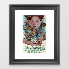 Tiny Little Pieces Framed Art Print