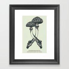 Mushrooms & Giraffe Framed Art Print