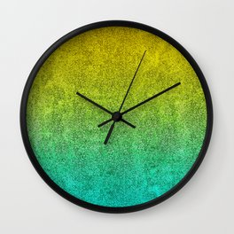 Ocean Sunrise Glitter Gradient Wall Clock