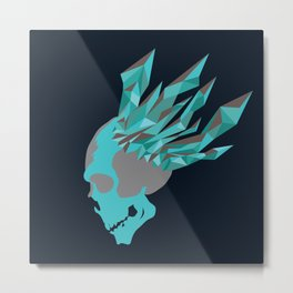 Diamond Skull Head Metal Print