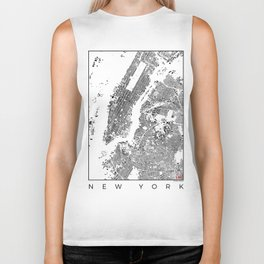 New York Map Schwarzplan Only Buildings Biker Tank