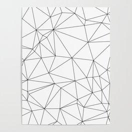 Black and White Geometric Minimalist Pattern Poster