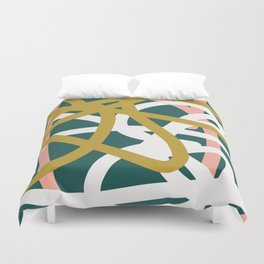 Abstract Lines 02B Duvet Cover