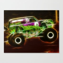 Magical Grave Digger Monster Truck Canvas Print
