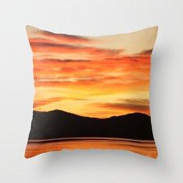 Tangerine Sky Throw Pillow