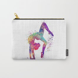 Gymnastics Tumbling Watercolor Carry-All Pouch