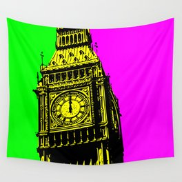 Big Ben - In all her coloured glory... Wall Tapestry