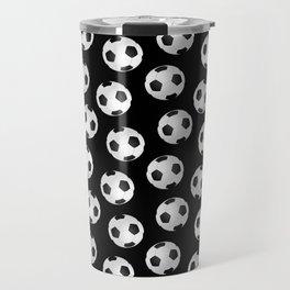 Soccer Ball Pattern-Black Travel Mug