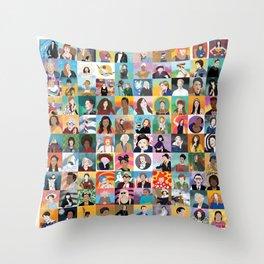 100 Boss Babes Throw Pillow