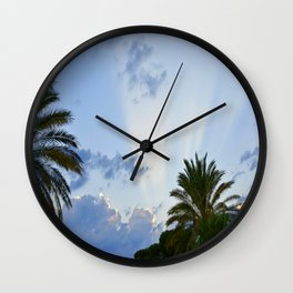 Palms on Clouds  Wall Clock