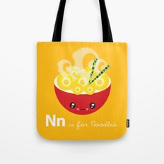 N is for Noodles Tote Bag