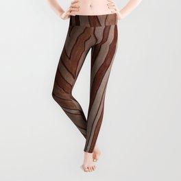 Brown Wood Grain Leggings