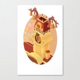 Twilight Tower (Kingdom Hearts) Isometric Art Canvas Print