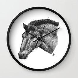 Przewalski's Horse Wall Clock