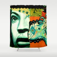 street art Shower Curtains featuring Street Art by very giorgious