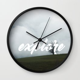 Explore // #TravelSeries Wall Clock