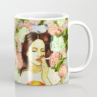 ultraviolence Mugs featuring Hydranges and Peyote by Robert Red ART