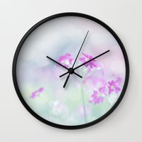 breathe Wall Clocks featuring Breathe by Scarlet