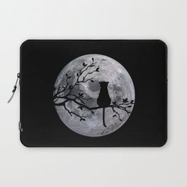The Cat And The Moon Laptop Sleeve