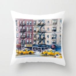 New York, wtercolor sketch Throw Pillow