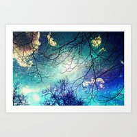 night sky Art Prints featuring night sky by Sylvia Cook Photography