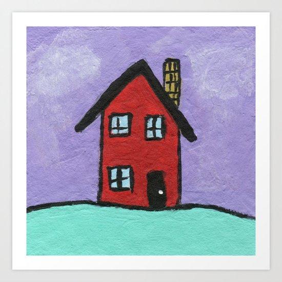 Red House Art Print