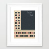 building Framed Art Prints featuring Building by Felipe Chaves Ribeiro