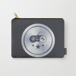 Top Gamer Metal Badge Carry-All Pouch