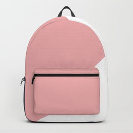 pink navy white Backpack