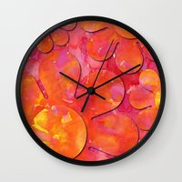 camo Wall Clocks featuring Camo flowers by Shelly Bremmer